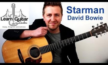 David Bowie – Starman – Acoustic Guitar Lesson – Drue James