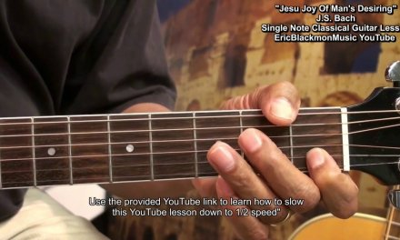 Easy Classical Guitar Lesson JESU JOY OF MENS DESIRING EEMusicLIVE