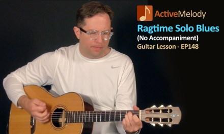 Ragtime Acoustic Blues Guitar Lesson (Solo Guitar) – EP148