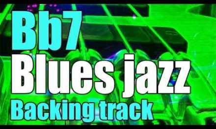 Bb7 guitar blues jazz backing track   Free play-along