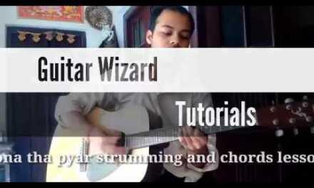 Hona tha pyar [Atif aslam][Bol] guitar lesson chords and original strumming
