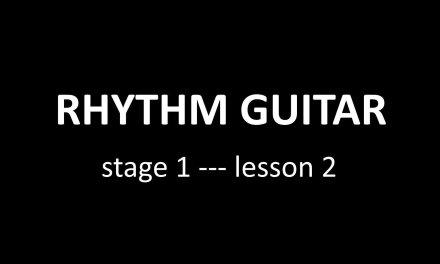 Rhythm guitar lesson + TAB (1.2)