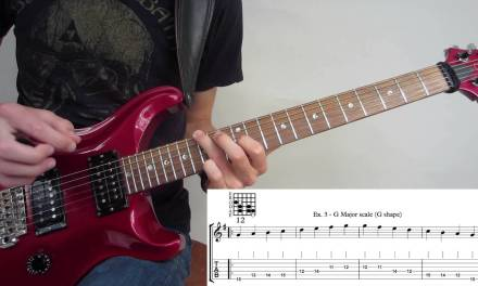 CAGED Major Scale Guitar Lesson – How to Play the Major Scale Up the Fretboard