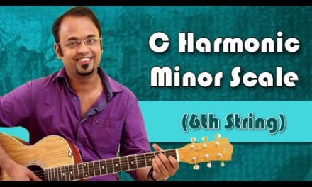 How To Play – C Harmonic Minor Scale (6th String) – Guitar Lesson For Beginners