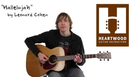 How to play Hallelujah – Jeff Buckley – Leonard Cohen – Easy guitar lesson
