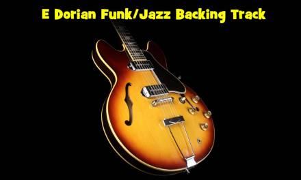 E Dorian Jazz Funk Backing Track