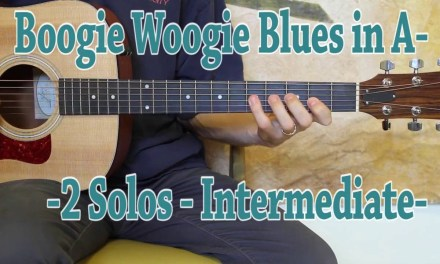 Boogie Woogie Blues in A – Blues Guitar Lesson