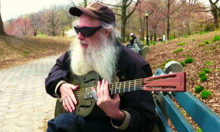 Messiahsez Gives An Outdoor Slide Guitar Lesson & Makes A Song For A Young Boy.