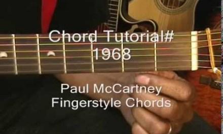 The Beatles BLACKBIRD Guitar Chord TABS Tutorial #1968 Paul McCartney Fingerstyle