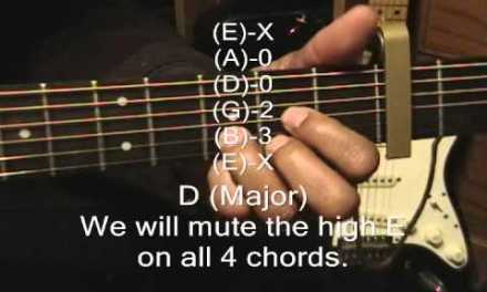 Guitar Chord Form Tutorial #145 5 Seconds Of Summer Style EZ Chords Lesson Capo Fret 2