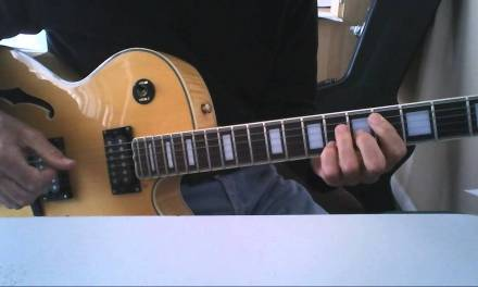 How to play Blue Bossa on guitar. Jazz guitar lesson. Chords shown below..