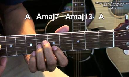 Amazingly Easy A Major Chord Progression Guitar Tutorial Lesson EricBlackmonMusicHD YouTube