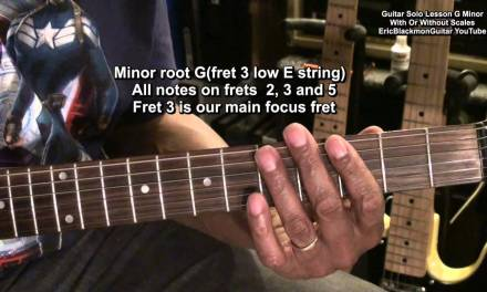 How To Solo On Electric Guitar In G Minor With & Without Scales Tutorial Lesson