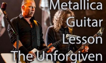 Guitar Lesson. Metallica The Unforgiven Electric Guitar Intro Verse Chorus & Pre Solo