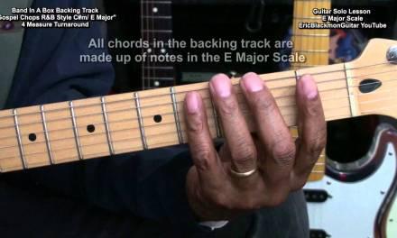 Gospel Chops #2 R&B Style Guitar Solo Lesson E Major Scale EricBlackmonMusicHD