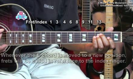 Fun With An E Major Guitar Chord – Progression Movement Lesson Tutorial EricBlackmonMusicHD