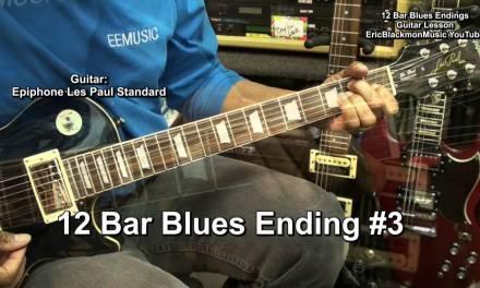 Too EASY 12 BAR BLUES Guitar Endings Series Lesson #3 EricBlackmonMusicHD