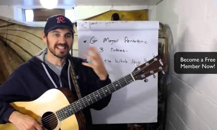 G Major Pentatonic Scale – 3 Octaves – Free Guitar Lesson!