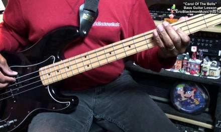 Carol Of The Bells Rock Bass Guitar Lesson EricBlackmonMusicHD