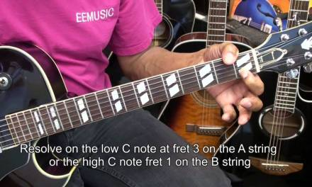 """Learn To Guitar Solo Along With Guitarist Tony Mottola's """"Moon River"""" Lesson"""