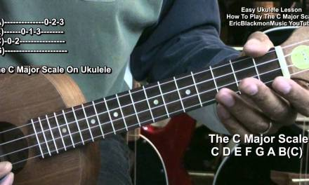 Ukulele Lesson How To Play The C Major Scale EricBlackmonMusicHD