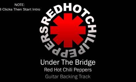 RHCP – Under The Bridge (Guitar Backing Track)
