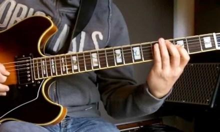 Jazz guitar lesson   Lick in Eb   I-VI-II-V7