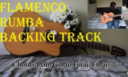 Rumba flamenco guitar backing track in Am – Backtrack 1