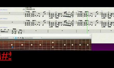 Backing track guitar partitur Damage control