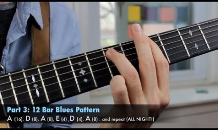 Play the Blues in Every Key – Rhythm and Lead Guitar Lesson – The Art of Jamming!