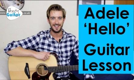 Adele – Hello Guitar Tutorial – Easy Chords!