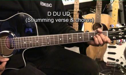 POMPEII Bastille How To Play On Guitar Lesson No Capo EricBlackmonMusicHD