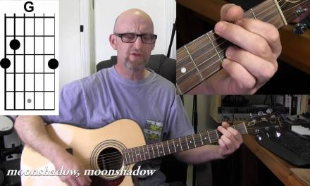 CAT STEVENS – MOONSHADOW  Acoustic guitar tutorial with chords and lyrics