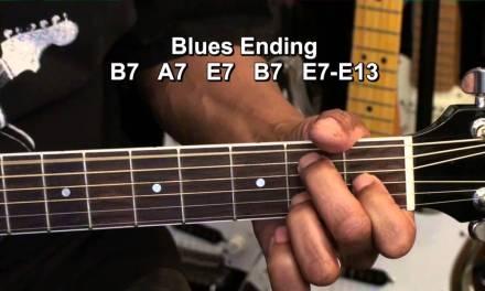 Very Cool 12 Bar Blues Ending Chord On Guitar Tutorial Lesson EBMTL HD