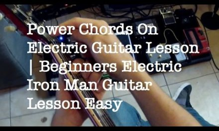 Power Chords On Electric Guitar Lesson | Beginners Electric Iron Man Guitar Lesson Easy