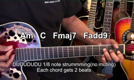 BREATHE ME Sia Guitar Tutorial Lesson Easy EricBlackmonMusicHD