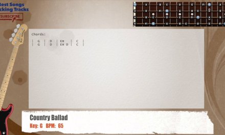 Country Ballad in G Bass Backing Track with chords