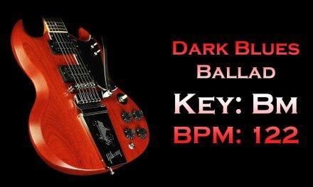 Dark Blues Ballad / Key: Bm (Jam Track)