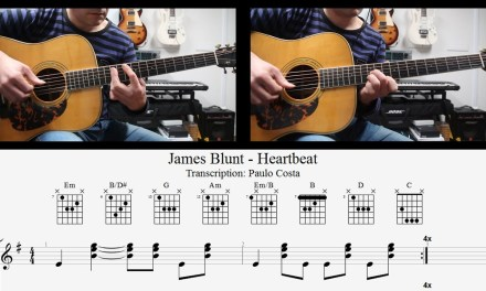 James Blunt, Heartbeat, How to Play, Guitar Lesson, Chords, TAB, Tutorial