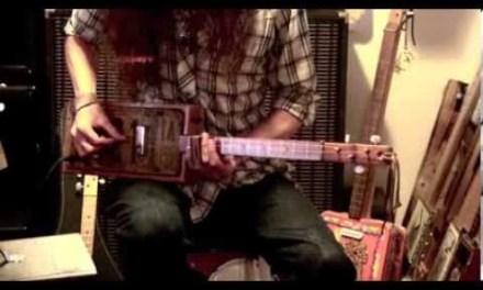 """Walkin' Blues"" Lesson for 3-String Cigar Box Guitar"