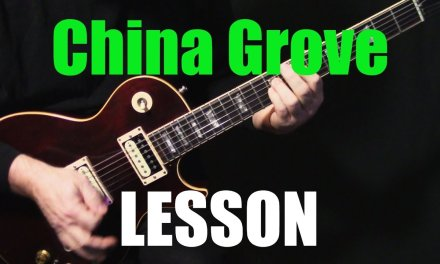 """LESSON   how to play """"China Grove"""" on guitar by the Doobie Brothers   electric guitar lesson"""