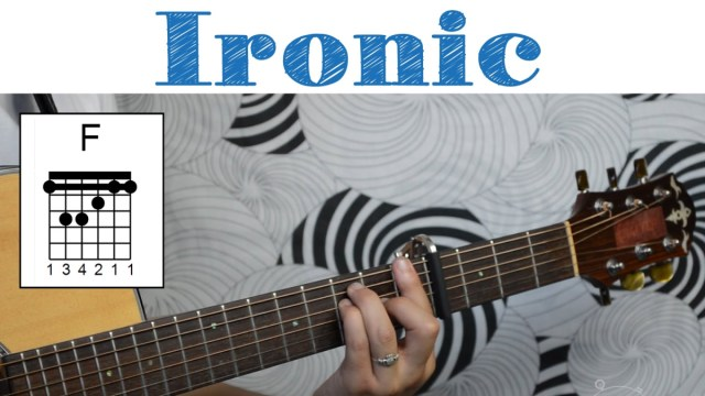 Ironic – Alanis Morissette | Easy Guitar Tutorial, Simple Chords and ...