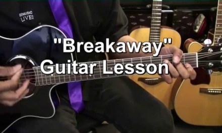 How To Play BREAKAWAY Kelly Clarkson On Guitar Tutorial EricBlackmonMusicHD