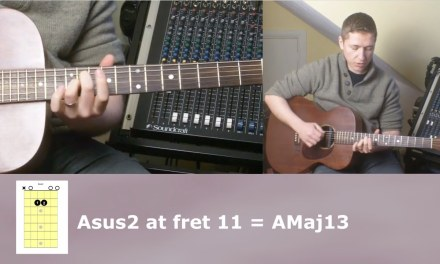 Advancing Guitar Lesson 5 Open String Chords Up The Neck