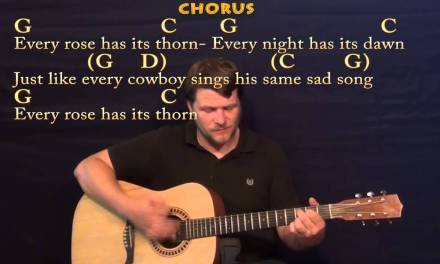 Every Rose Has Its Thorn (Poison) Strum Guitar Cover Lesson with Chords / Lyrics