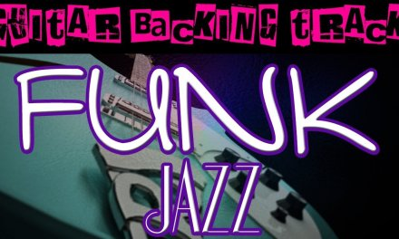 Funk Jazz Guitar Backing Track (D) | 130 bpm – MegaBackingTracks