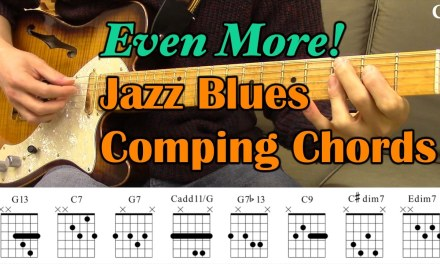 Even More! Jazz Blues Comping Chords (With Chord Boxes) – Guitar Lesson – Camilo James