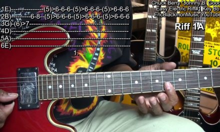 How To Play Johnny B. Goode Riffs#1A Revised Chuck Berry Guitar Lesson 1 EricBlackmonGuitar