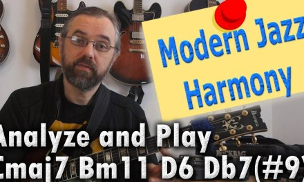 Modern Jazz Harmony – Chord Progressions and Analysis