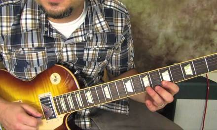 Blues Rhythm Guitar Lesson – Gibson Les Paul – Free Guitar Lessons Online – how to play